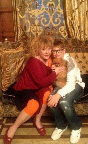 Алла Борисовна на праздновании дня рождения своего младшего внука Денни