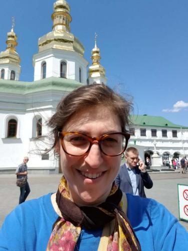 Звезда Теории большого взрыва посетила Киев и написала о нем трогательное письмо