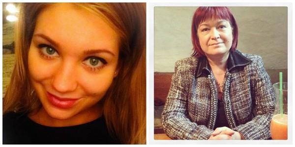 Кристина Асмус и ее мама Рада Викторовна (справа)