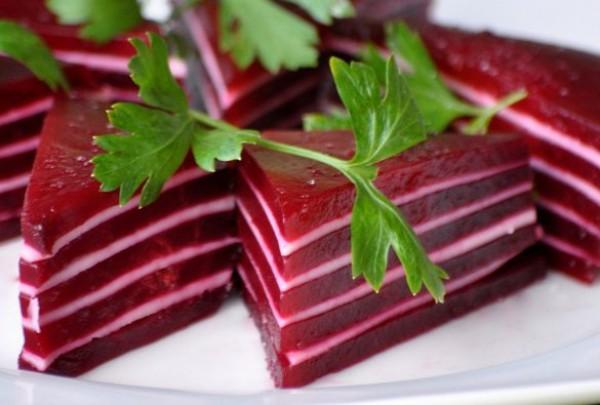 Рецепт                  Закуска из свеклы и сыра