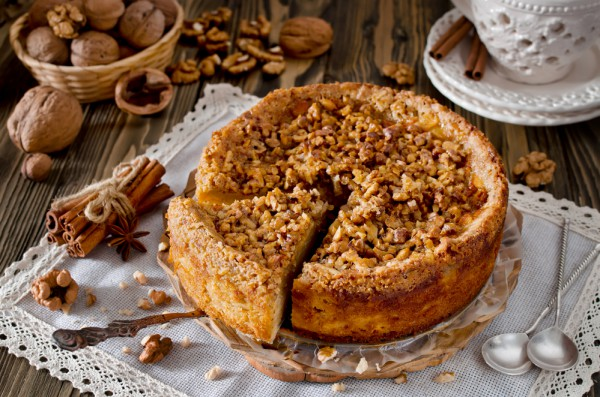 Рецепт пирога с грецкими орехами