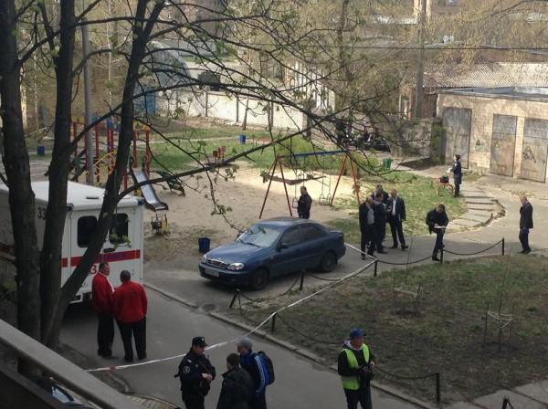 Фото с места убийства Олеся Бузины