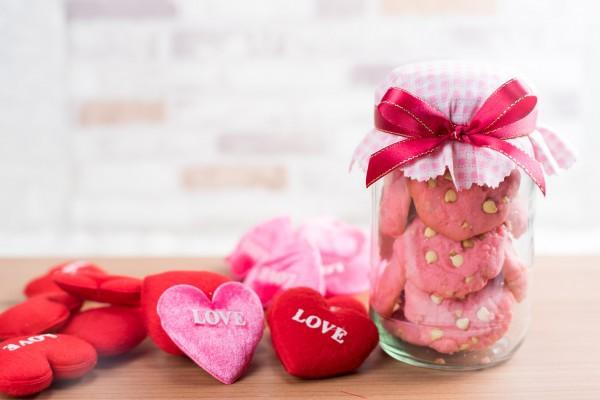 Печенье на День Валентина с белым шоколадом