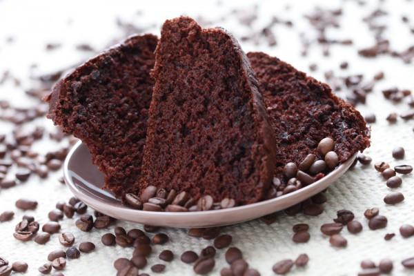 Постный пирог с кофе и шоколадом