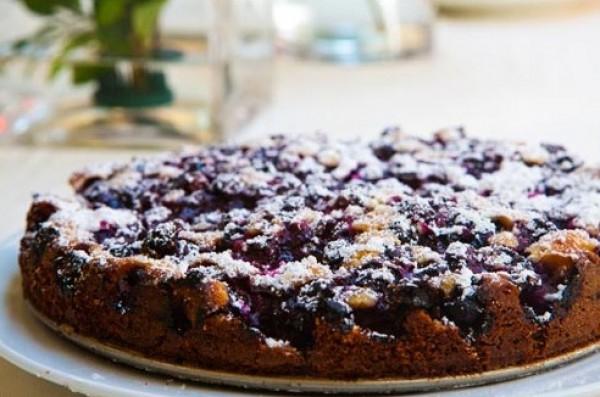 Рецепт                  Простой черничный пирог