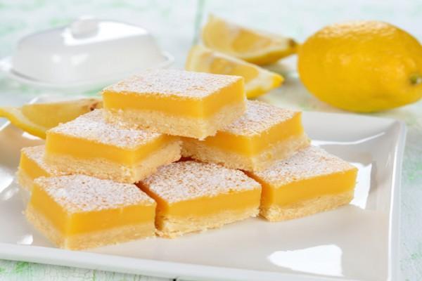 Лимонные квадратики с курдом