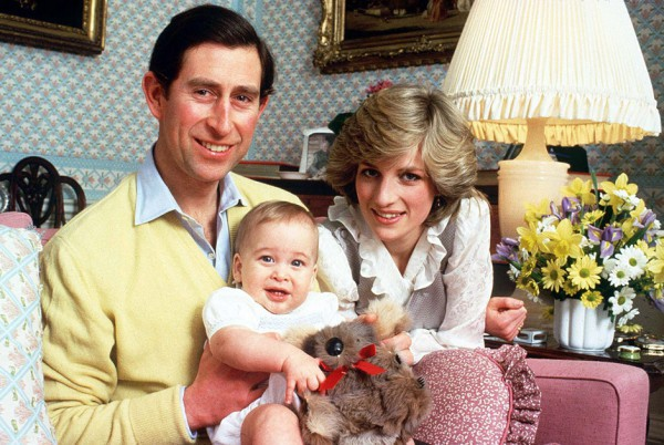 Принц Чарльз, его супруга принцесса Диана и сын Уильям.