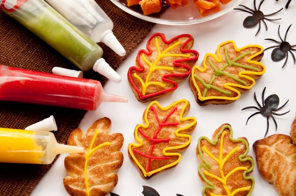 Рецепт                  Рецепты на Хэллоуин: Печенье Осенние листики