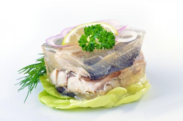 Салат из семги кальмаров