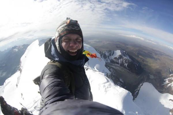Дмитрий Комаров в новогоднюю ночь восходил на вершину Уайна Потоси высотой 6088 метров