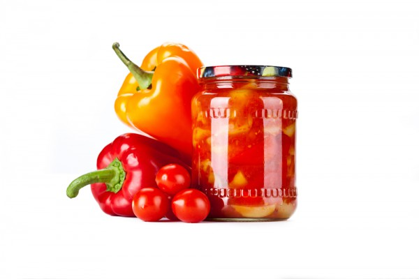 Консервированные помидоры с со сладким перцем и горчицей