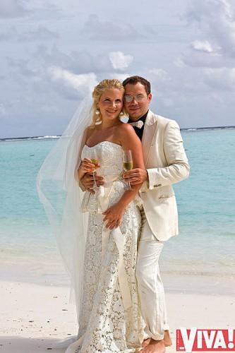 Андре Тан с женой Алиной