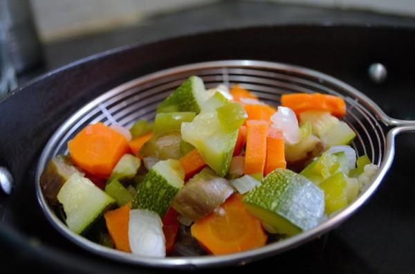 Вареные овощи содержат полезную клетчатку
