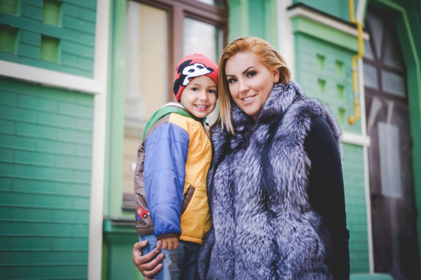 Олимпийская чемпионка Яна Клочкова с сыном Сашенькой