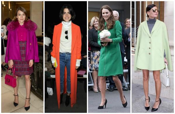 Яркие пальто на осень 2014