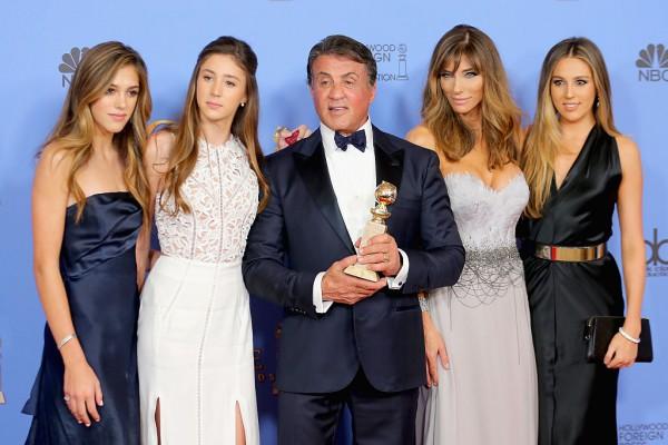 Сильвестр Сталлоне с женой и дочерьми