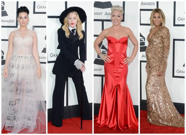 Звездные модницы на церемонии Grammy 2014