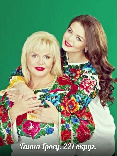 Алина Гросу со своей мамой
