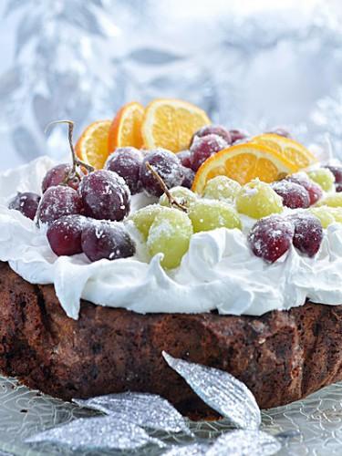 Рецепт                  Рождественский кекс с фруктами и меренгой