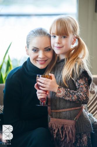 Наталья Окунская с дочкой Полиной