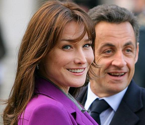 Карла Бруни с супругом Николя Саркози