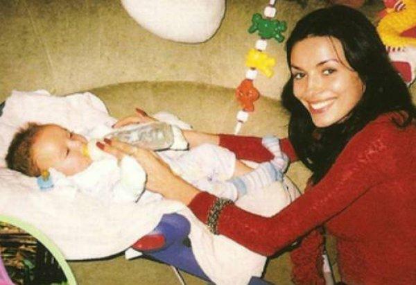 Надежда Мейхер-Грановская с первым ребенком