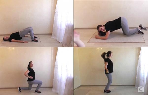 Светлана тренируется сама