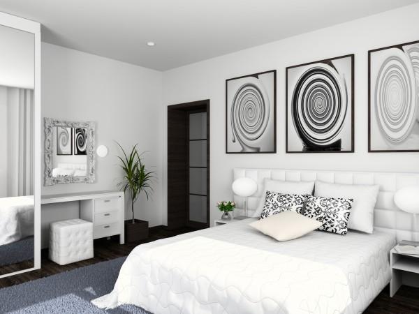 Лучше выбрать всю необходимую мебель в светлых или сине-серых тонах