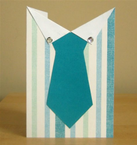 Открытка с галстуком