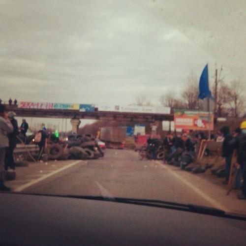 Ольга Фреймут показала фото баррикад в Сети