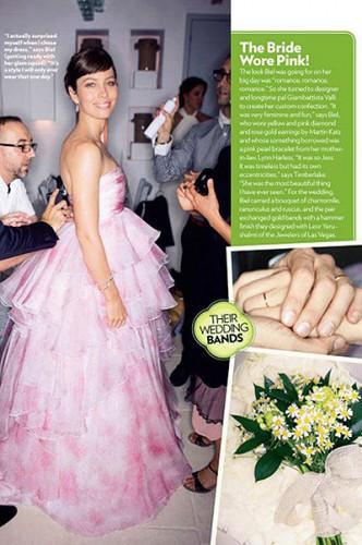 Свадебное платье Джессики Биль от Giambattista Valli