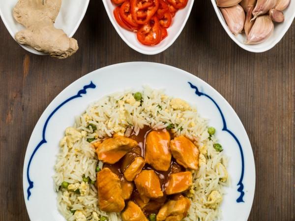 Свинина по-китайски в кисло-сладком соусе