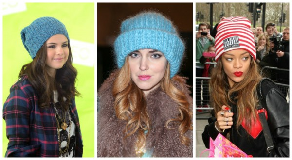 вязаные шапки 2013 выбор звездных модниц тренды моды мода 2017
