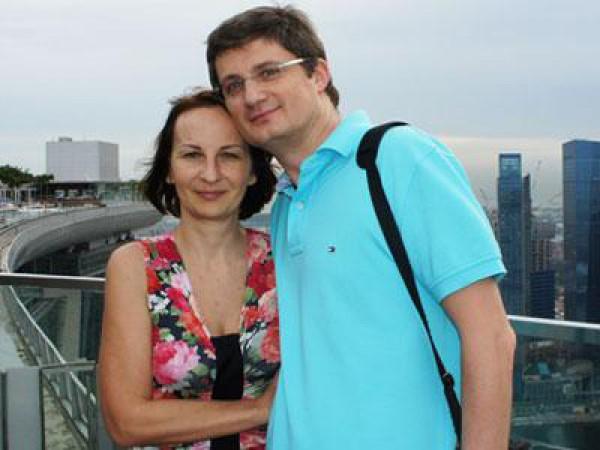 Игорь Кондратюк с супругой