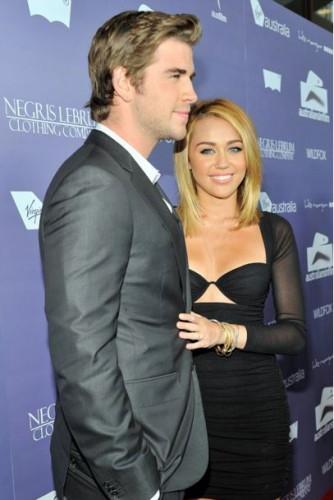 Майли и Лиам в 2012 году