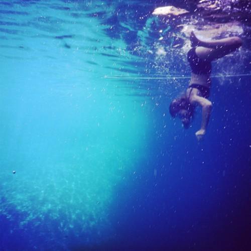 Собчак под водой