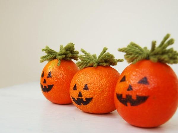 Джек-фонари из апельсинов