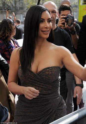Американская телеведущая Ким Кардашян