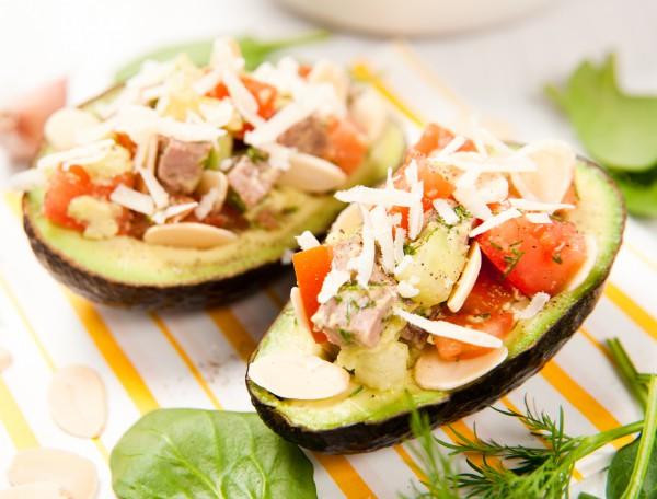 Салат с мясом и авокадо
