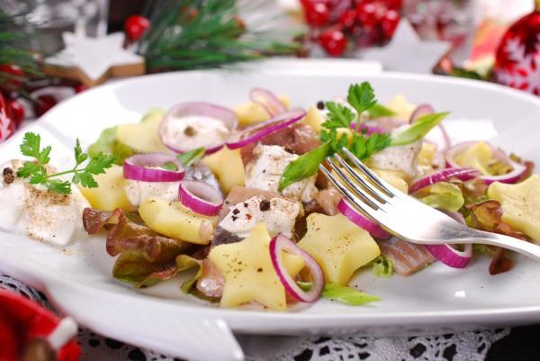 Новогодний салат из сельди