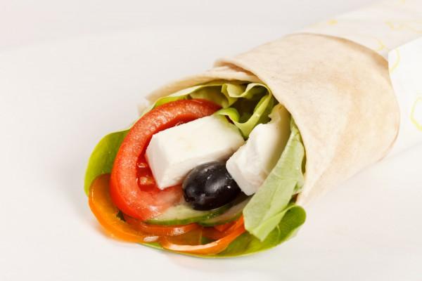 Рецепт                  Греческий салат в лаваше