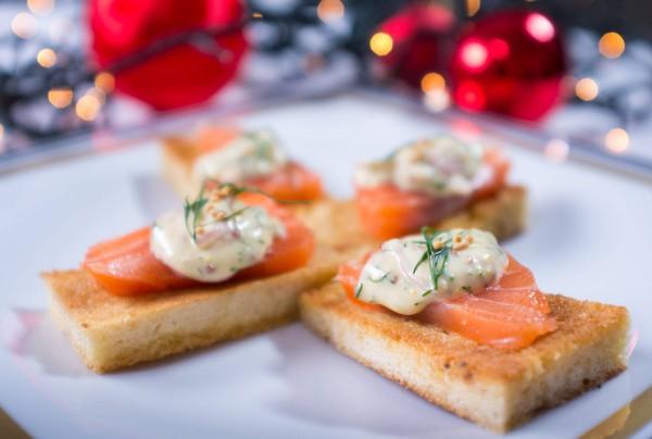 Закуска из норвежской семги на Новый год и Рождество