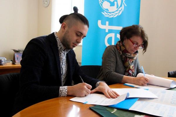 Тарас Тополя - амбасадор ЮНИСЕФ фото