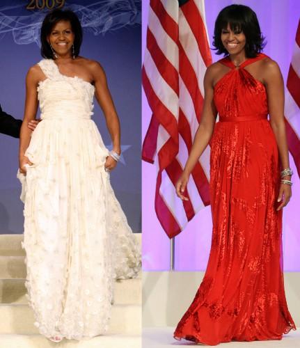 Платья Мишель Обамы для инаугурации в 2009 (фото слева) и в 2013 годах создал дизайнер Джейсон Ву