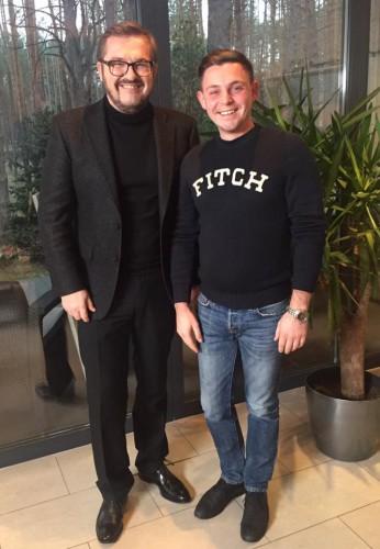 Александр Пономарев и продюссер программы Серж Куницын