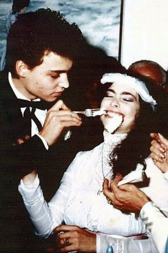 Свадьба Джонни Деппа и Лори Энн Эллисон (1983 год)