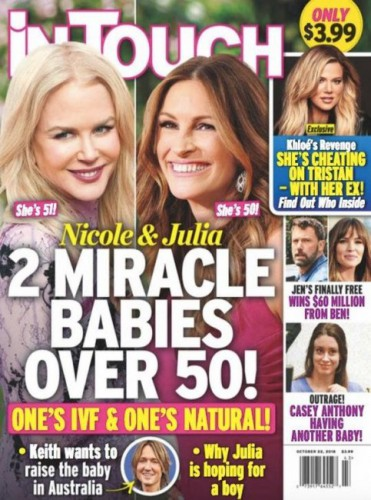 СМИ: Джулия Робертс и Николь Кидман в скором времени станут снова мамами