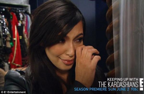 Ким Кардашян в ужасе от своей фигуры