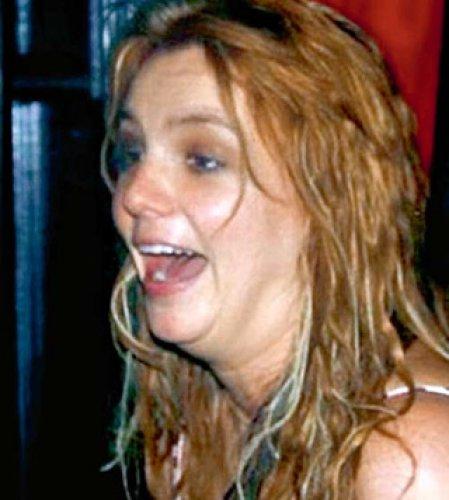 Снимок Бритни без обработки фотошопом