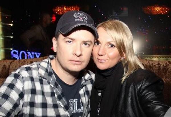 Андрей Данилко с партнером по съемке Инной Белоконь